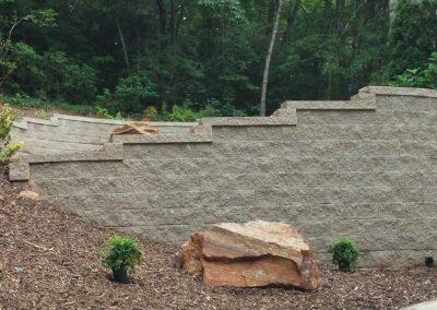 Belgard Retaining Walls - Anchor Diamond wall Taupe