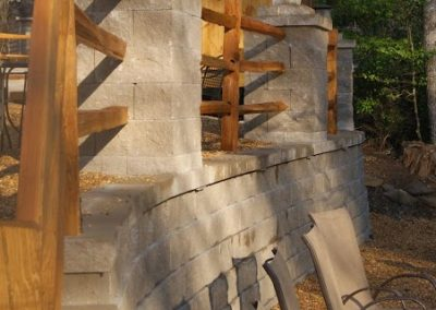 Belgard Retaining Walls - Anchor Diamond wall, columns & pavers 2
