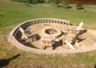 Flagstone - Patio & firepit