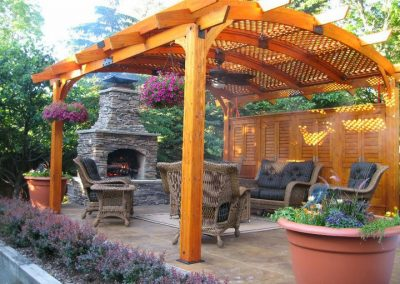 Manufactured Stone - Outdoor fireplace