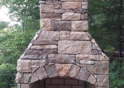 Manufactured Stone - Stone Hinge fireplace kit 2