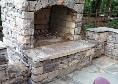 Manufactured Stone - Stone Hinge fireplace kit