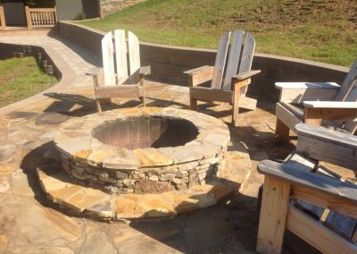Natural Stone - Patio & firepit